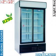 DRINK-110S/T típusú ipari, nagykonyhai, Kereskedelmi üvegajtós hűtőszekrény