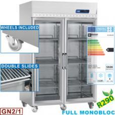 IE140G/R2 típusú ipari, nagykonyhai, ventillációs fagyasztószekrény