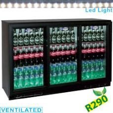 TABS3/D-R2 típusú ipari, nagykonyhai, Kereskedelmi üvegajtós hűtőszekrény