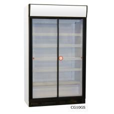 CG10GS típusú, kereskedelmi, üvegajtós hűtőszekrény