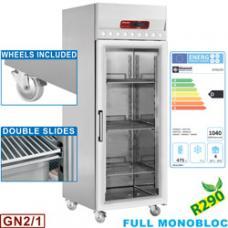 ID70G/R2 típusú ipari, nagykonyhai, kereskedelmi Üvegajtós légkeveréses hűtőszekrény