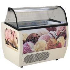 RUMBA 10 PLUS típusú ipari gördíthető fagylaltpult