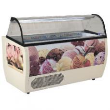 RUMBA 13 PLUS típusú ipari gördíthető fagylaltpult