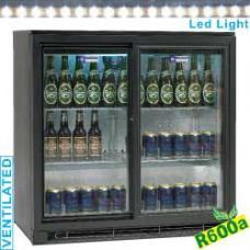 TABS2/D-R6 típusú ipari, nagykonyhai, Kereskedelmi üvegajtós hűtőszekrény