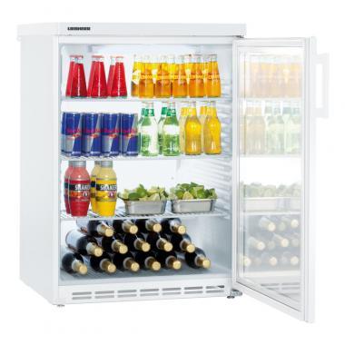 Liebherr FKU 1803 típusú, kereskedelmi, üvegajtós hűtőszekrény