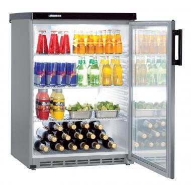 Liebherr FKvesf 1803 típusú, kereskedelmi, üvegajtós hűtőszekrény